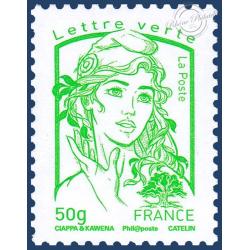 france timbre poste type marianne n 4776 lettre verte 100g de c. Black Bedroom Furniture Sets. Home Design Ideas