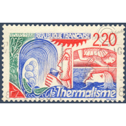 N° 2556a LE THERMALISME 2F20 ROUGE, TIMBRE OBLITERE 1988