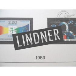 FEUILLES LINDNER T. 1989 pour Collection de timbres (France)