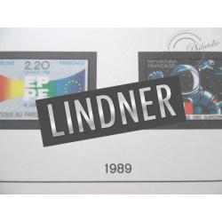 FEUILLES LINDNER T. 1989 pour Collection de timbres (France)