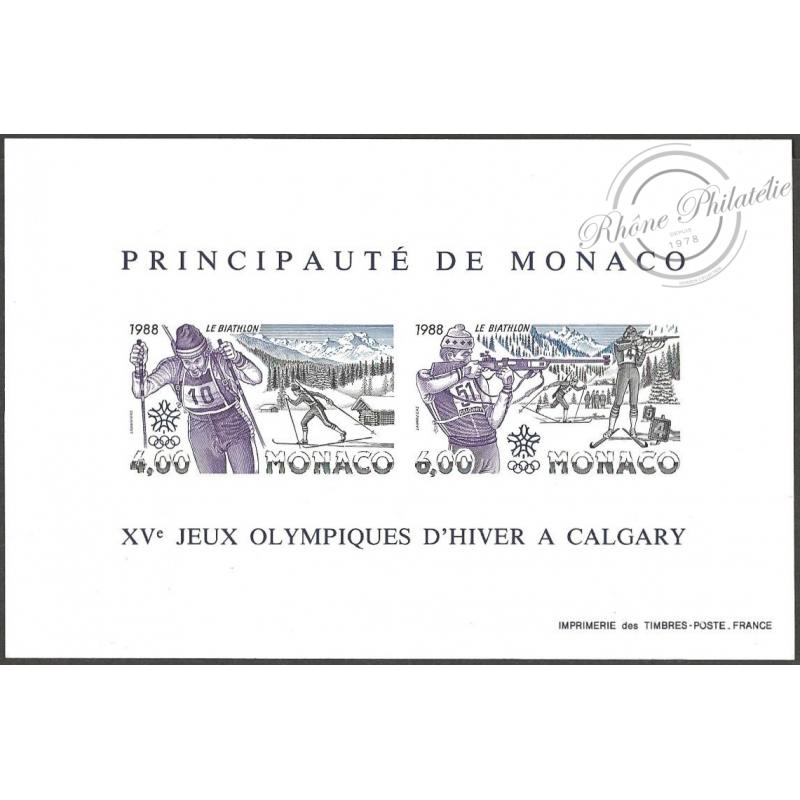 BLOC DE MONACO N°40A JO CALGARY, LUXE!!