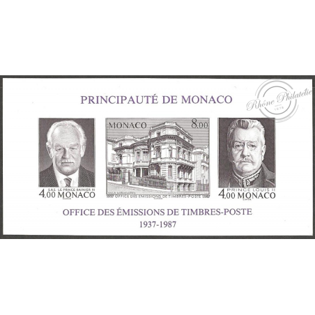 BLOC DE MONACO N°39a OETP, LUXE!!