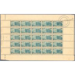 N°__424 ORPHELINS DES P.T.T, FEUILLE DE 25 TIMBRES NEUFS**, 1939