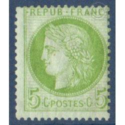 N°_53 TYPE CERES 5c VERT, TIMBRE NEUF ** 1872