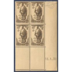 N°__420 MONUMENT LEON TRULIN COIN DATE 1939 TIMBRES NEUFS **