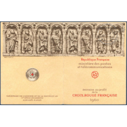 CARNET CROIX-ROUGE N°2009 TIMBRES NEUFS** 1960