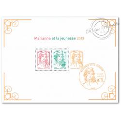 BLOC N°__133 MARIANNE ET LA JEUNESSE 2013 LUXE