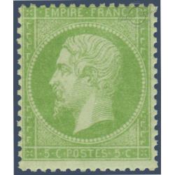 N°_20 TYPE NAPOLEON 5C VERT, TIMBRE NEUF* 1862