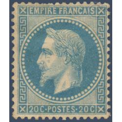N°_29B TYPE NAPOLEON 20C BLEU TYPE II, TIMBRE NEUF* 1867