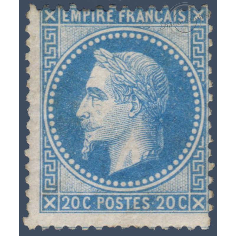 N°_29A TYPE NAPOLEON 20C BLEU TYPE I, TIMBRE NEUF* 1867