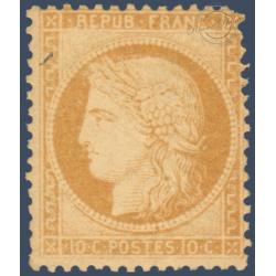 N°_36 TYPE CERES 10C BISTRE-JAUNE, TIMBRE NEUF* SIGNE CALVES 1870