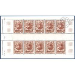 TAAF POSTE AERIENNE N°_22 STATION ILE D'AMSTERDAM 1970 EN FEUILLE DE 10 TIMBRES