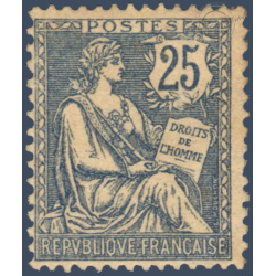 N°__118 TYPE MOUCHON 25C BLEU, TIMBRE NEUF** 1900-01