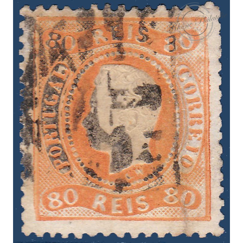 PORTUGAL N°31 TIMBRE EFFIGIE LOUIS 1ER EN RELIEF (1867-1870)