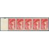 VICTOIRE DE SAMOTHRACE N°355 - BANDE DE 5 TIMBRES POSTE AVEC BORD DE FEUILLE