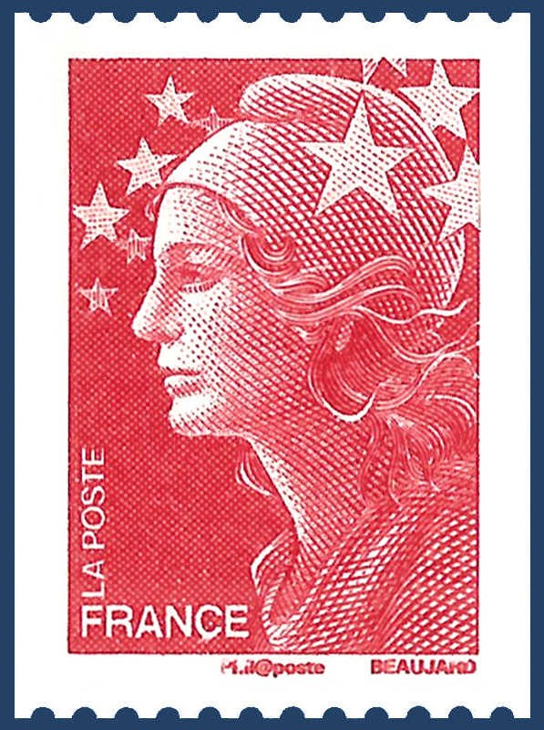 france timbre poste type marianne n u00b04240 au type marianne rouge