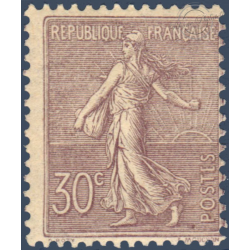 N°__133 TYPE SEMEUSE LIGNEE 30C LILAS, TIMBRE NEUF** 1903