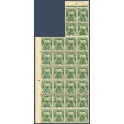 TAXE N°_80 TYPE GERBES 50c. VERT, FEUILLE 28 TIMBRES NEUFS** 1946-55