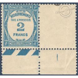 TAXE N°_61 BLEU, TIMBRE NEUF** 1927-1931