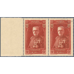 MONACO N°139 PRINCE LOUIS II, PAIRE DE TIMBRES NEUFS** 1937 LUXE