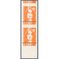 TIMBRES POSTE N°2620 MARIANNE DU BICENTENAIRE VARIÉTÉ DÉCOUPE DECALLEE 1990