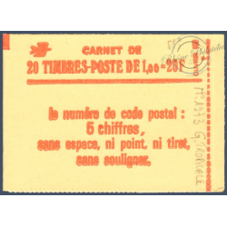 CARNET MODERNE 1973-C 1a TYPE SABINE OUVERT 1977-1978