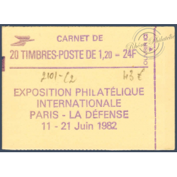 "CARNET MODERNE 2101-C 2 TYPE SABINE ""PHILEXFRANCE 82"" OUVERT 1980"