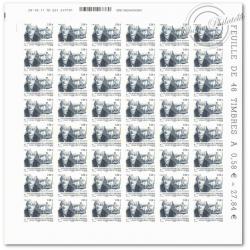 FEUILLE TIMBRES POSTE AUTOADHESIFS 565 PORTRAIT CLAUDE BOURGELAT (2011)