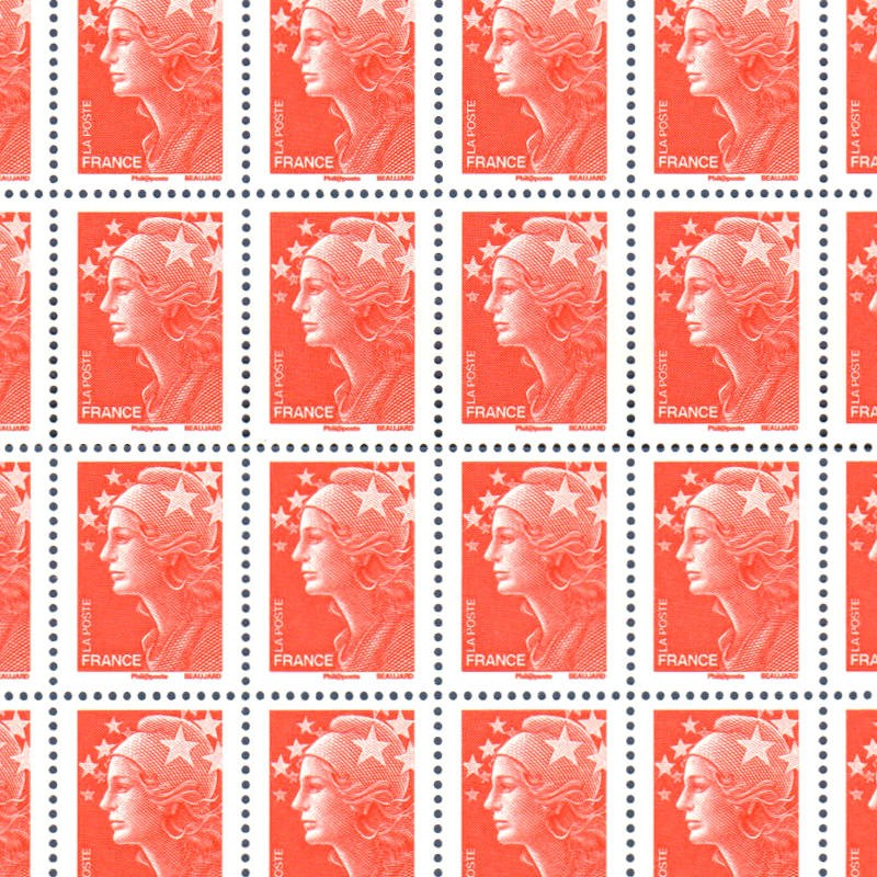 FEUILLE TIMBRES POSTE TYPE MARIANNE N°4230 au type