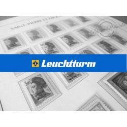 FEUILLES LEUCHTTURM SPM pour timbres-poste et taxe de 1986