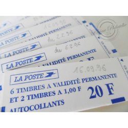 CARNET MARIANNE ROUGE DE BRIAT N°1507 (1994) DE 6 TIMBRES A VALIDITE PERMANENTE