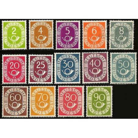 SERIE COURANTE COR POSTAL DE 1951-1952