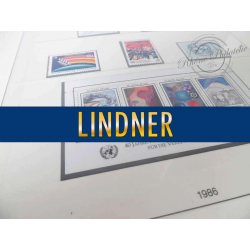 LOT DE COLLECTION TIMBRES ONU 1986-1989 FEUILLES LINDNER