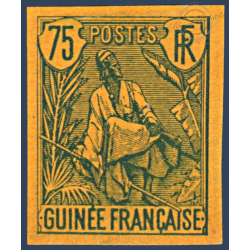 GUINEE N°29a BERGER PULAS NON DENTELÉ, TIMBRE NEUF SANS GOMME 1904