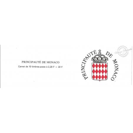 MONACO CARNET N°4 LUXE_vues du vieux Monaco_ 10 TIMBRES DE 2F20_1989