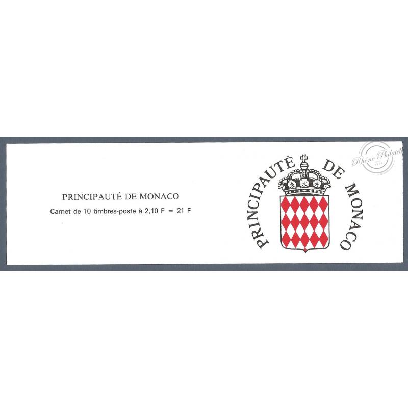 MONACO CARNET N°5 LUXE_vues du vieux Monaco_ 10 TIMBRES DE 2F10_1990