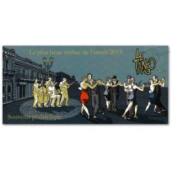 BLOC SOUVENIR LE TANGO - LE PLUS TIMBRE DE L'ANNÉE 2015