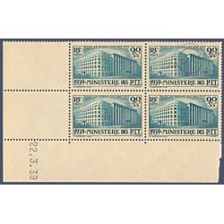 N°__424 COIN DATÉ MINISTÈRE DES P.T.T, TIMBRES NEUFS ** 1939