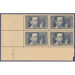 N°__385 COIN DATÉ LOUIS PASTEUR, TIMBRES NEUFS** 1938