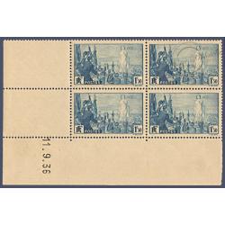 N°__328 COIN DATÉ RASSEMBLEMENT UNIVERSEL POUR LA PAIX, TIMBRES NEUFS** 1936