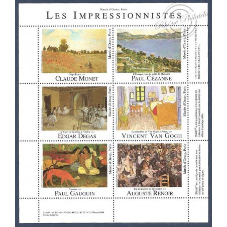 LES IMPRESSIONNISTES vignettes de collection du Musée d'Orsay sans valeurs d'afranchissement