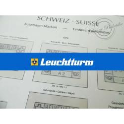 FEUILLES LEUCHTTURM pour timbres distributeurs de Suisse
