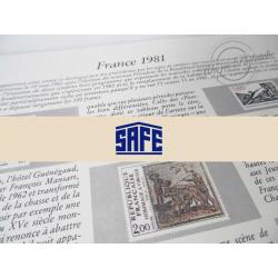 FEUILLES SAFE DUAL 1981 avec almanach encyclopédique pour timbres français