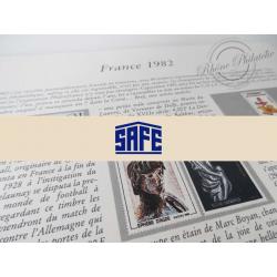 FEUILLES SAFE DUAL 1982 avec almanach encyclopédique pour timbres français