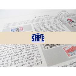 FEUILLES SAFE DUAL 1983 avec almanach encyclopédique pour timbres français