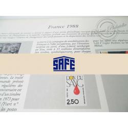 FEUILLES SAFE DUAL 1988 avec almanach encyclopédique pour timbres français