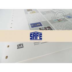 FEUILLES SAFE DUAL 1985 avec almanach encyclopédique pour timbres français