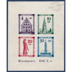 ALLEMAGNE (BADE) BLOC N°2B, BLOC NEUF, 1949
