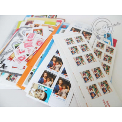 LOT TIMBRES-POSTE 0.50€, FACIALE 735€, 25% DE REMISE