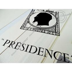 FEUILLES CERES PRESIDENCE 1983 pour ranger timbres de France